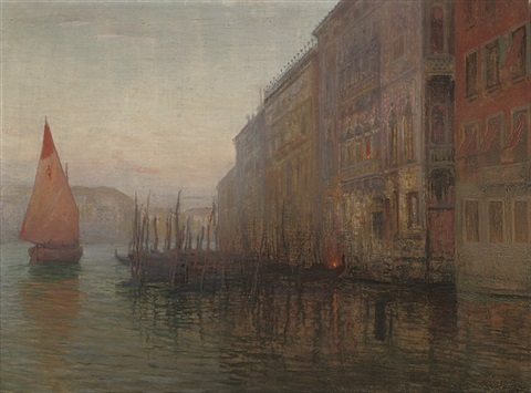 dawn on the grand canal venice by mikhail rundaltsov