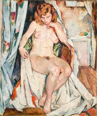 sitzender weiblicher akt by alfred sohn-rethel