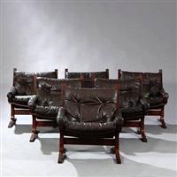 siesta easy chairs (set of 6) by ingmar anton relling