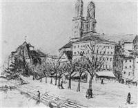 stadtansicht von zürich by hans olde