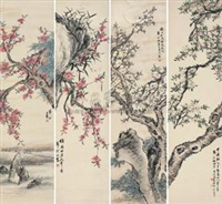 桃花 (peach blossoms) (in 4 parts) by dai bing