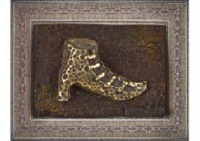 shoes (bronze relief) by yayoi kusama