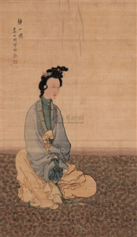 静一图 (portrait of a lady) by zhou xun