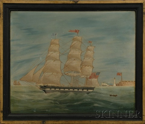 """portrait of the ship """"rapahannock"""" by anglo-american school (19)"""