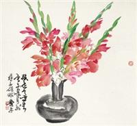 瓶花 镜心 纸本 by xiao ping