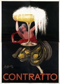 contratto (on 4 joined sheets) by leonetto cappiello