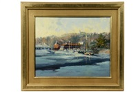 harbor ice, kennebunkport, maine by kathleen billis