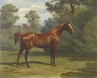 pferd auf einer lichtung by wouter verschuur the younger