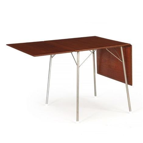 Pleasant Table With Frame Of Steel Top And Flip Down Leaves Of Teak Interior Design Ideas Clesiryabchikinfo