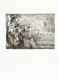 folge von 13 bll.: eine passion (13 works) by max slevogt
