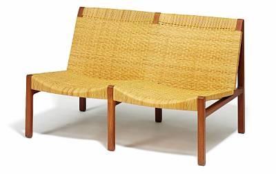 two seater sofa bench by ejnar larsen and aksel bender madsen