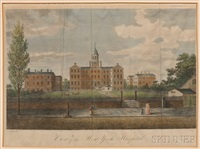 view of the new-york hospital (after john robert murray) by william satchwell leney