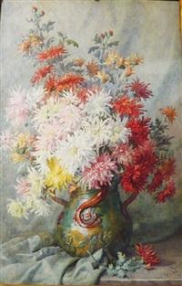 bouquet de fleurs sur entablement by antoinette chavagnat