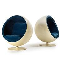 ball chairs (pair) by eero aarnio