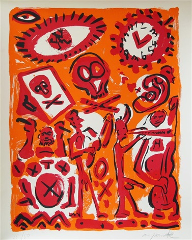 session in orange by ar penck