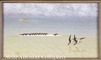 birds on sandbar by james mcconnell anderson
