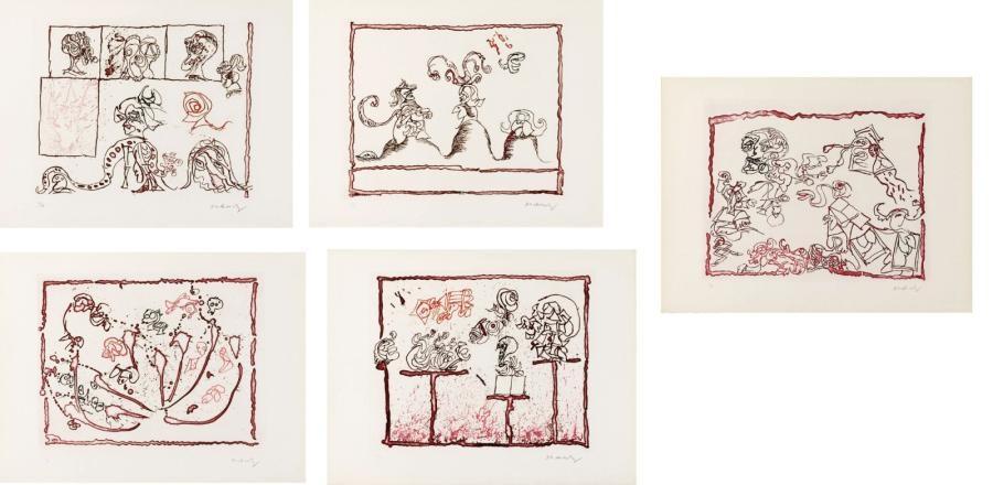 le test du titre portfolio of 6 by pierre alechinsky