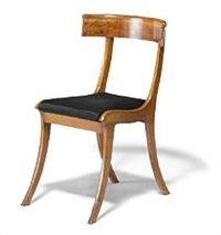 klismos chair with sweeping beech frame by kay fisker