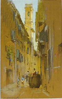 rue de village by charles salomon koechlin