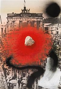 ohne titel (berlin 9.11.1989, brandenburger tor; wer ohne sünde) by wolf vostell