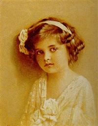 portræt af pige i hvid kjole by lars soren jensen rastrup