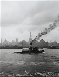 hudson river tugboat by cornell capa