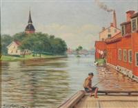 canal scene by julius granberg