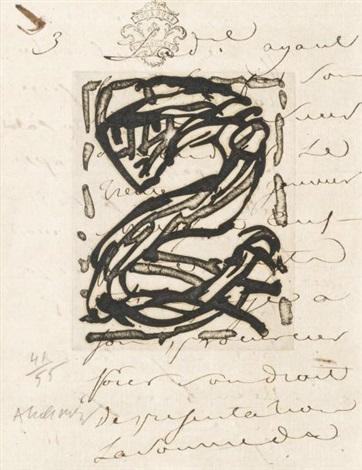 serpent by pierre alechinsky