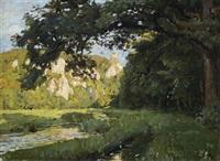 sommerliche landschaft (bei buttenhausen?) by otto reiniger