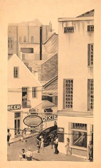 lively new orleans street corner by aurelia josephine coralie arbo