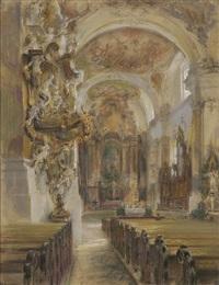 interieur der benediktinerkirche, ottobeuren by franz huth