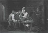 rauferei in einer wirtsstube by frans de jong