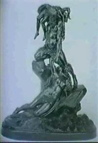 mand redder kvinde med born fra havet by jan jozef jaquet