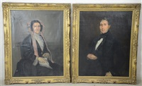 portraits (pair) by adolphe stache