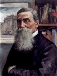 portrait eines bärtigen herren by richard harlfinger