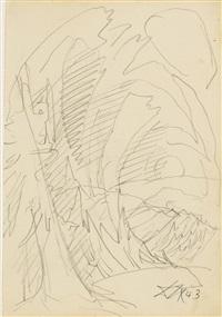 baumskizze (hohlweg) by otto dix