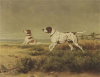 two hunting dogs by caspar von reth