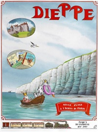 la nef des fous (for poster, ex-libris, and post card of festival bd de dippe) by turf