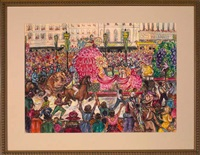 rex parade on canal street, new orleans by aurelia josephine coralie arbo