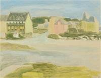 a breton townscape by christine swane