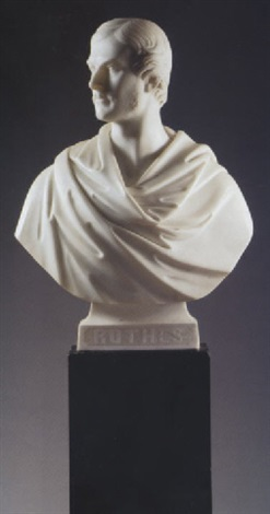 a bust of george william evelyn leslie 16th earl of rothes by william brodie