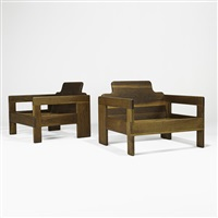 club chair frames (pair) by arthur espenet carpenter