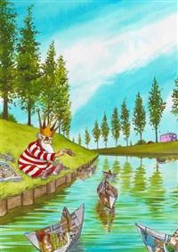 la nef des fous (for poster of 6th festival de bd et des arts graphiques de roubaix) by turf