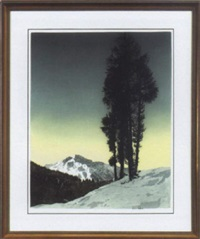 lone pine trees by hans figura
