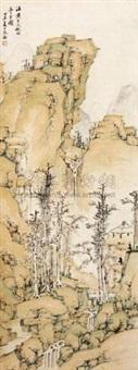秋林亭子图 by ming jian