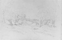 sizilianische landschaft in der umgebung von palermo by eduard wilhelm pose