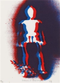 figure in red and blue by william s. burroughs