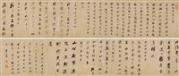 six classical proses in running script calligraphy by dong qichang