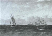 marine med sejlskibe og damper by c.v. bunch