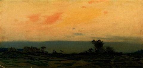 deerfield after sunset by augustus vincent tack
